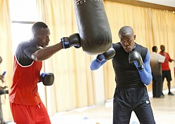 BOXING TEAM TRAINING FOR ALL AFRICA GAMES