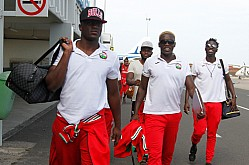 Harambee Stars arrive at Nelson Mandela airport in Praia, Cape Verde 2018 World cup qualifier