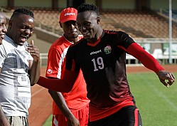 HARAMBEE STARS TRAINING SEASSION BEFORE THEIR FRIENDLY MATCH AGAINST MOZAMBIQUE