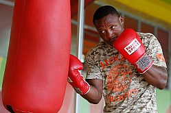 Boxers trains at Nyayo TKO Gym