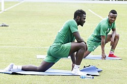 HARAMBEE STARS PLAYERS TRAIN FOR AFCON