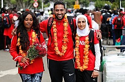 ALL AFRICAN GAMES : TEAM KENYA ARRIVAL